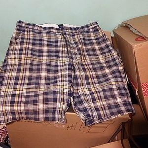 Gap Navy Plaid Summer Shorts